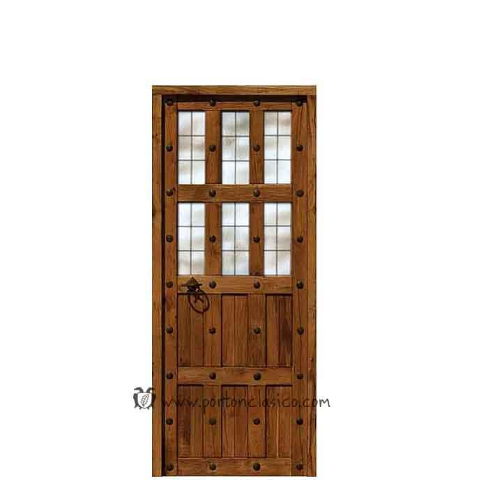 Puerta r stica para interiores modelo granada 205x76x4 for Ver modelos de puertas de madera