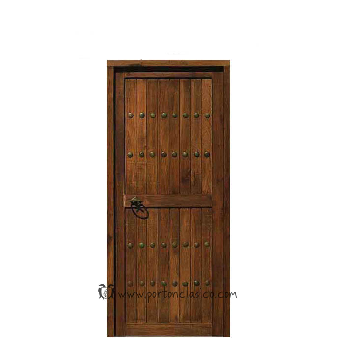 Puerta interior guadamur hoja 80cm port n cl sico for Puertas interiores antiguas madera