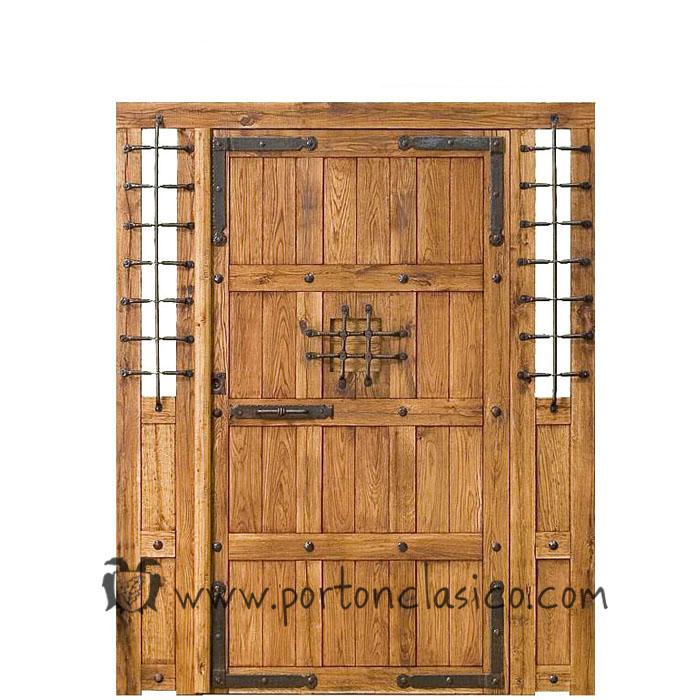 Puertas rusticas materiales de construcci n para la - Herrajes rusticos para puertas ...