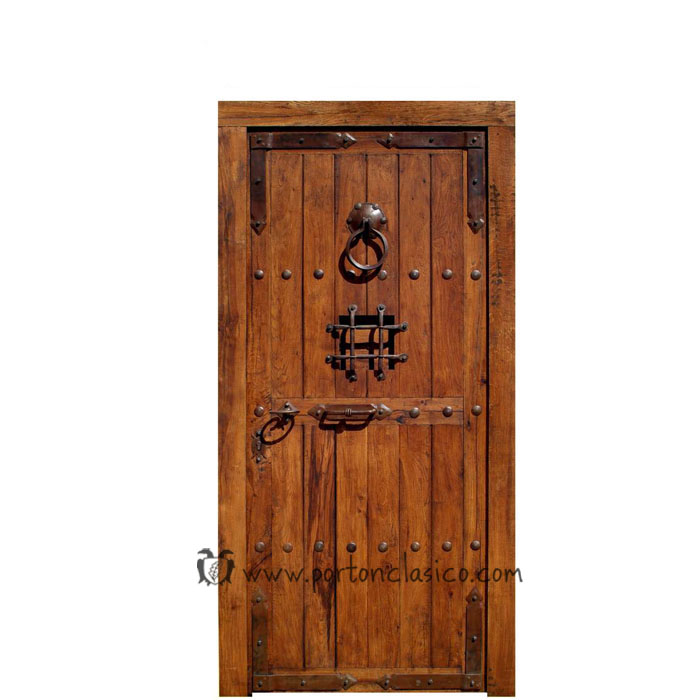Porton clasico puertas rusticas puertas de madera puertas - Manillas rusticas para puertas ...