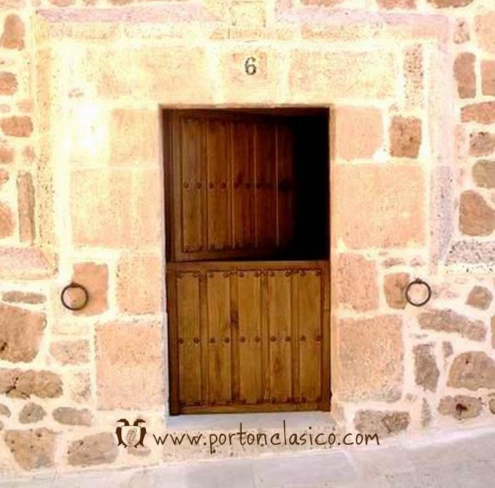 Puerta r stica partida ambrosia burgos port n cl sico - Como hacer una puerta rustica ...