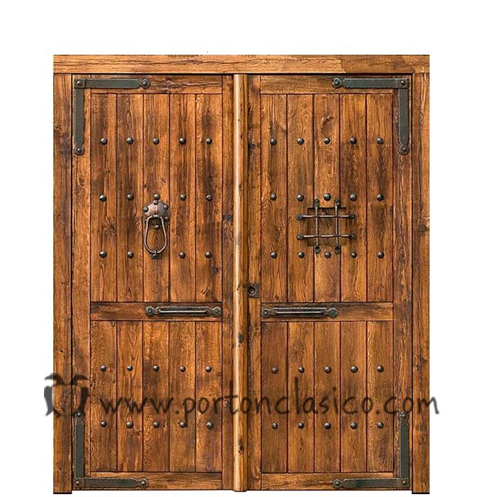 Portón de madera Valladolid