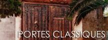 Portes rustiques bois chêne, forgé authentique