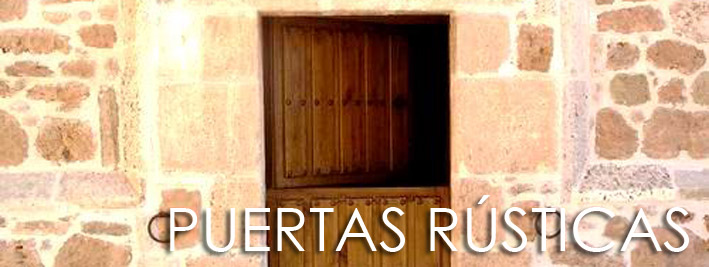 Puertas rústicas de madera