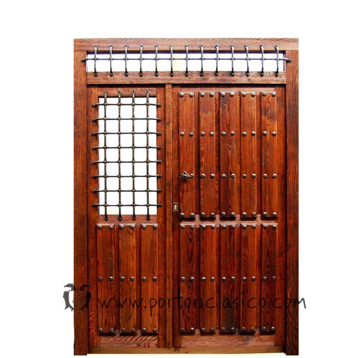Puerta rústica Ronda 230x175x8 +1 fijo móvil