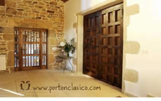 Wooden gate Córdoba in Galicia