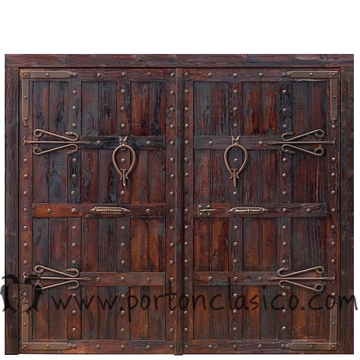 Portones de madera rústicos Granada