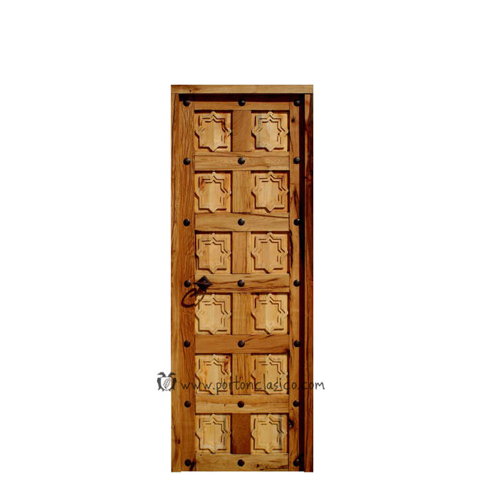 Puerta rústica de interior Fez 205x76x4 hoja 70cm