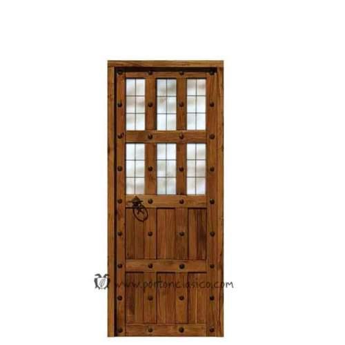 Puerta rústica para interiores modelo Granada 205x76x4 hoja 70cm