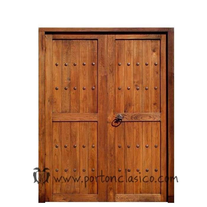 Puerta doble modelo Guadamur 205x146x4