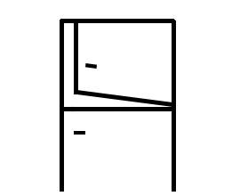 Puerta de 1 hoja y 2 fijos