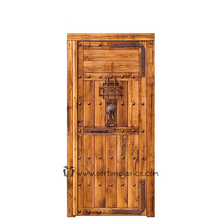 Puerta de madera almonacid 220x110x8 - Puerta rustica exterior ...