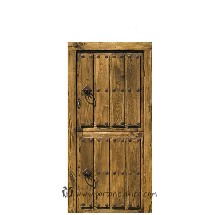 Puerta rústica partida Ambrosia 200x100x8