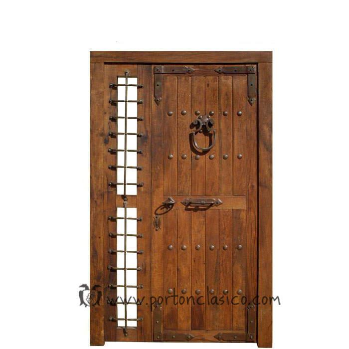 Puerta rústica Guadamur 220x135x8 +1fijo móvil