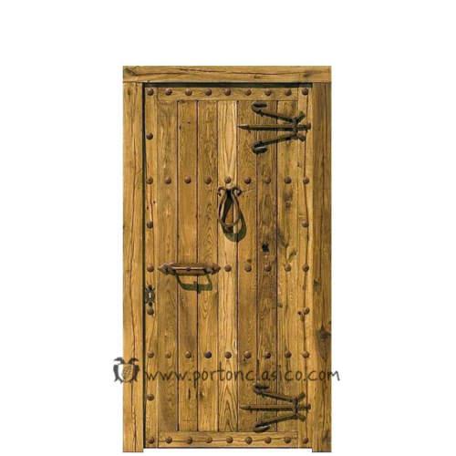 Puerta rústica Zarauz 220x110x8